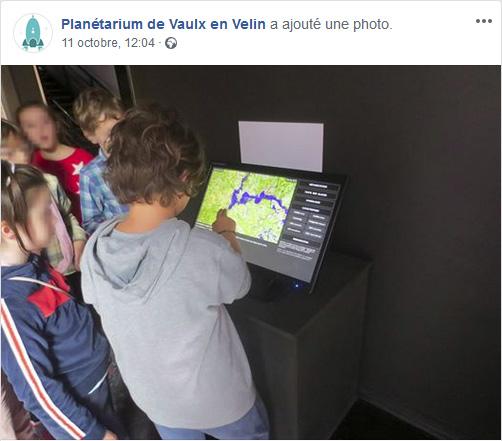 Utilisation de VisuClimat au Planétarium de Vaulx-en-Velin